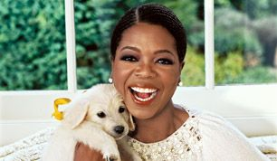 Oprah & one of her dogs...
