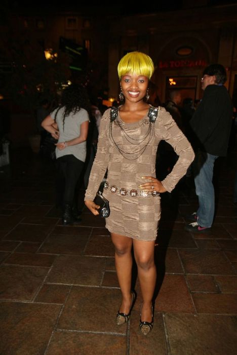 Ntombi Ngcobo of Amaponi with her yellow hair is nominated for Best ...
