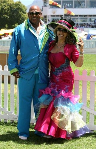 Former rugby player chester williams with his wife