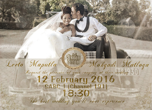 Sneak Peek Pics Leeto And Mokgadi S Skeem Saam Wedding